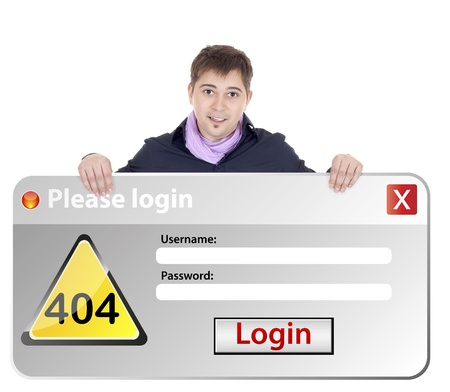 windows error login  Stock Photo - 12597638