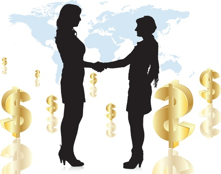 women handshake the hand Stock Vector - 12817259