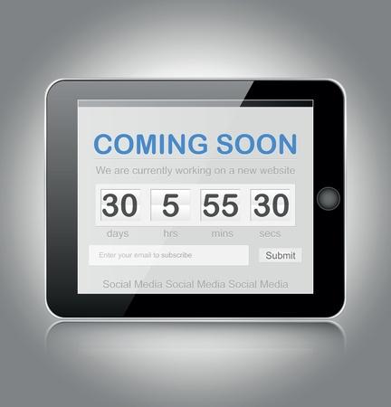 soon: coming soon pagina Stock Illustratie