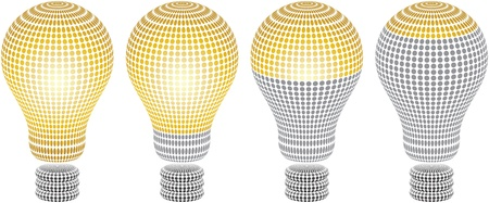 energy ranking: light bulb level Illustration