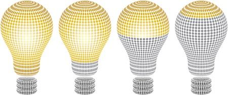 energy ranking: light bulb level Illustration