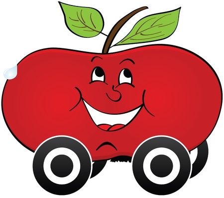 apple car transportation Stock Vector - 14031427