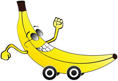 bannana: bannana car Illustration