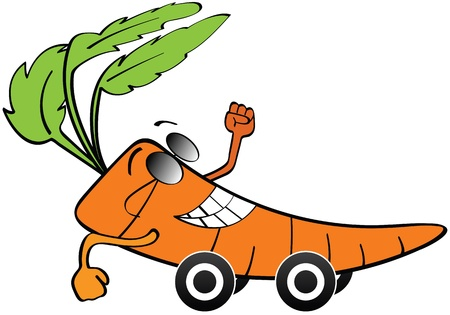 carrot car Stock Vector - 14031430