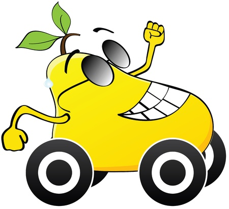 yellow pear transportation Vector
