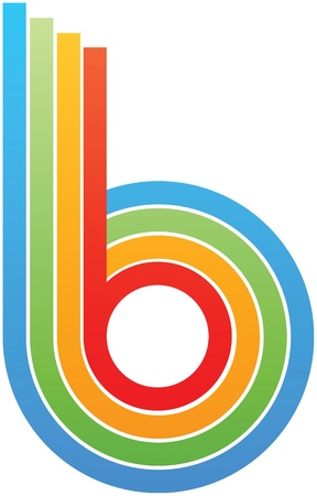 colorful letter b Vector