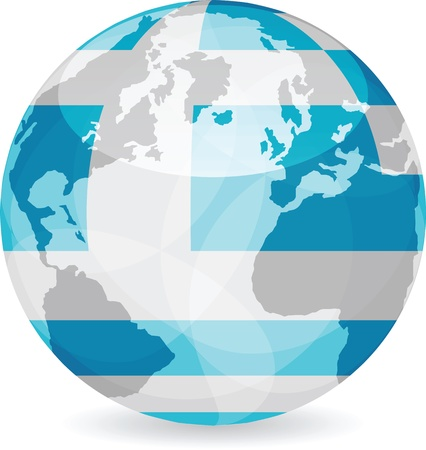 greece flag ball Vector