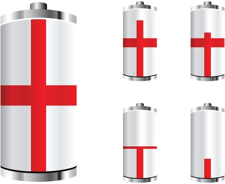 cell charger: england battery Illustration