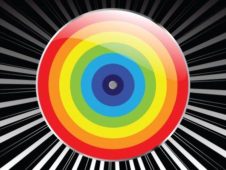 deflated: colorful background Illustration