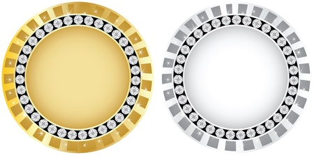 golden and silver banner Vector
