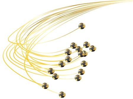 vezels: Optische vezels Stock Illustratie