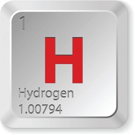 wasserstoff: Wasserstoff - Tastatur-Taste Illustration