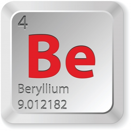 beryllium button  Stock Vector - 14982844