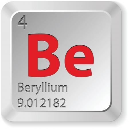 beryllium button  Vector
