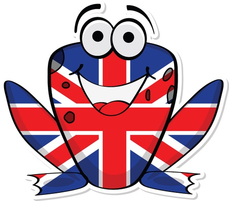 United Kingdom frog Vector