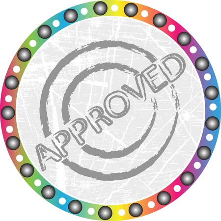accomplish: approverd stamp Illustration