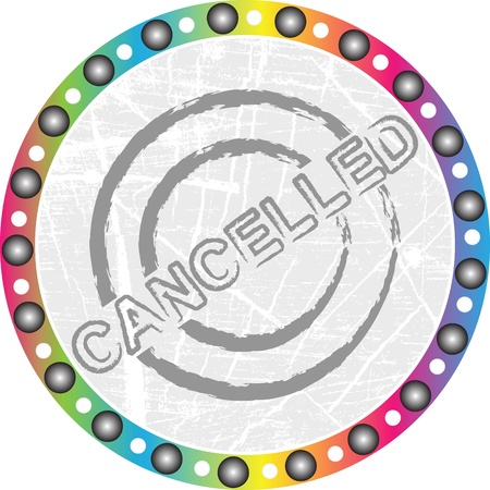 cancelled stamp Stock Vector - 15118860