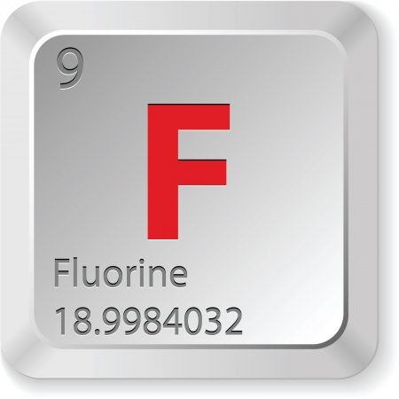 fluorine - keyboard button Vector