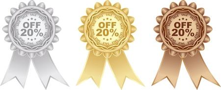twenty percent discount Stock Vector - 16135711