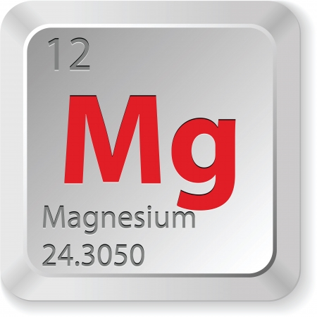 mendeleev: magnesium button Illustration