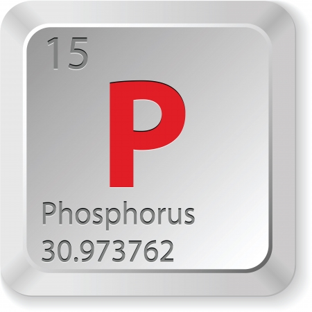 the periodic table: phosphorus button