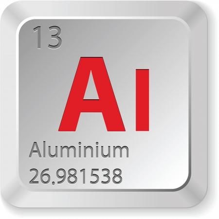 aluminium button Stock Vector - 16269169