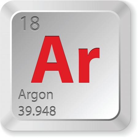 periodic table: argon button