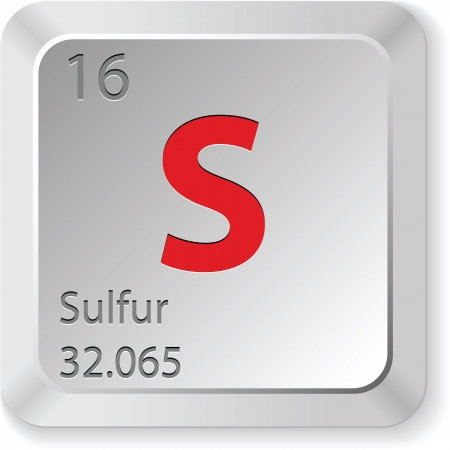 the periodic table: keyboard button-sulfur chimic element