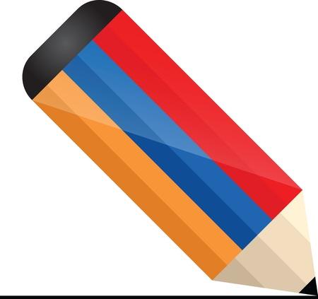 armenian pencil Stock Vector - 16437629