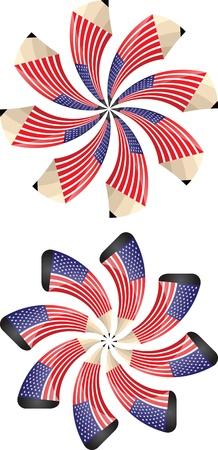 american pencils Stock Vector - 16570723