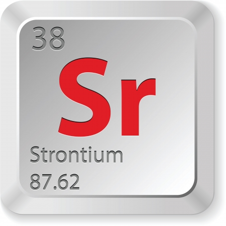 strontium: strontium element Illustration