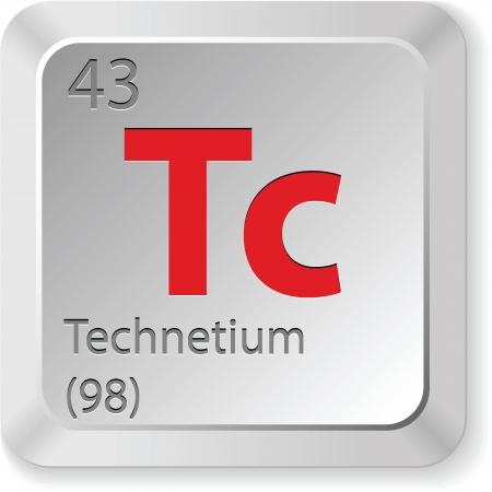 technetium element Vector
