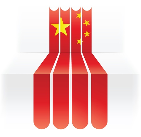flag of China Stock Vector - 16839161