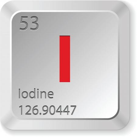 iodine element Stock Vector - 16931441
