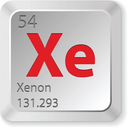 xenon: xenon element Illustration