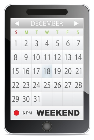application calendar Vector