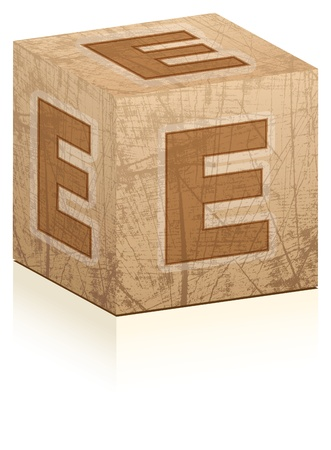 letter e Stock Vector - 17550434