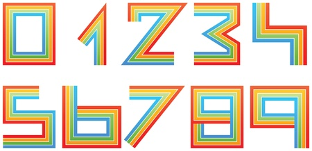 colorful numbers Stock Vector - 17550354