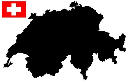 map of switzerland Stock Vector - 17550437