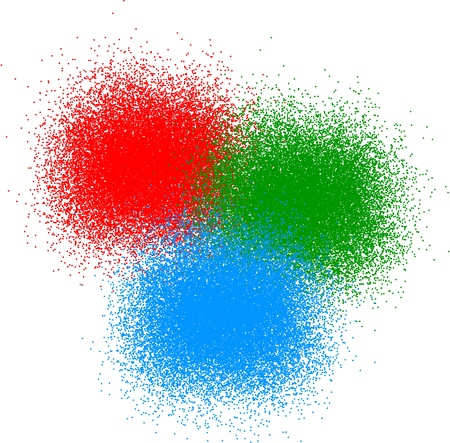 exploded: RGB color Illustration