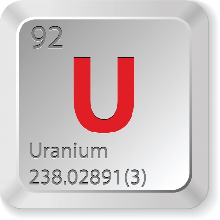 uranium element Vector