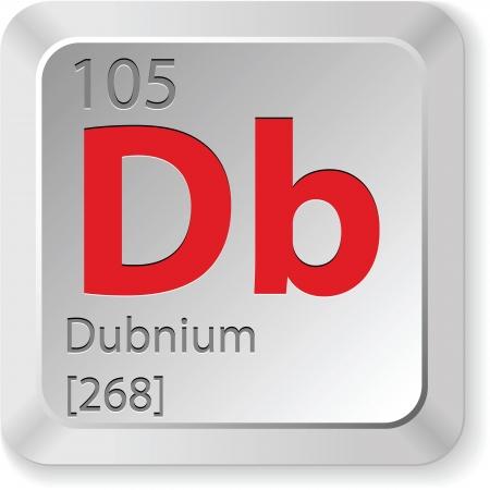 mendeleev: dubnium element Illustration