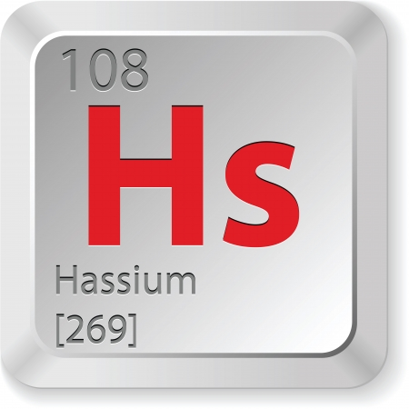 hassium element Stock Vector - 18309839
