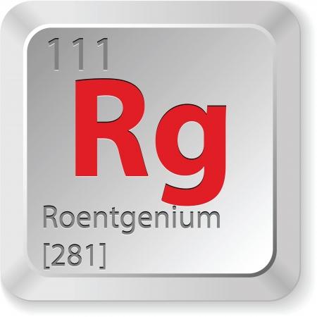 mendeleev: roentgenium element Illustration