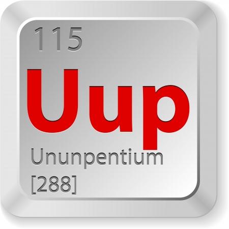 mendeleev: chimic element ununpentium Illustration