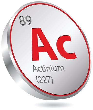 mendeleev: actinium element Illustration