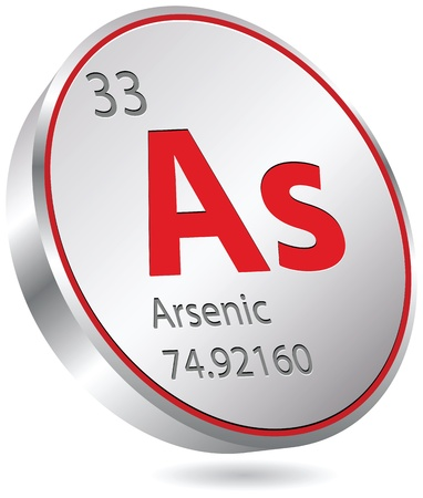 arsenic: arsenic element Illustration