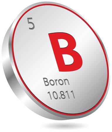 boro: Elemento boro Vectores
