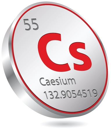 caesium element Ilustração