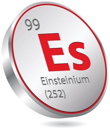 mendeleev: einsteinium element Illustration